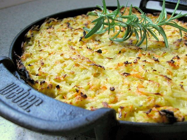 Grillet kartoffelpandekage