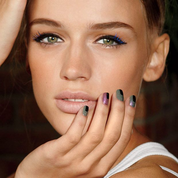Hot Mani Tip: Nail Stripes - http://blog.womenshealthmag.com/beauty-style-buzz/manicure-tips/