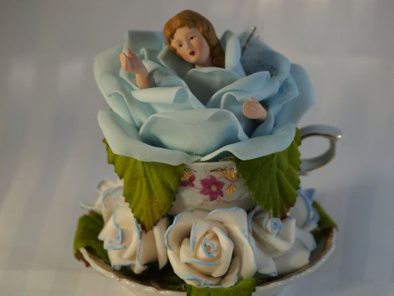 TEACUP FAERIES  BLUE by ReadyMadeGifts on Etsy