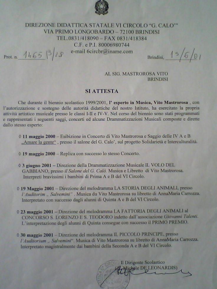 Riconoscimento Scuola Elementare