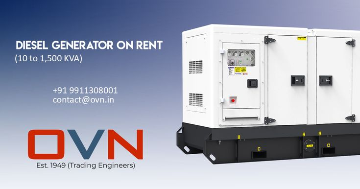 Diesel Generator On Rent In Delhi Power Generator Locker Storage Commercial Generators