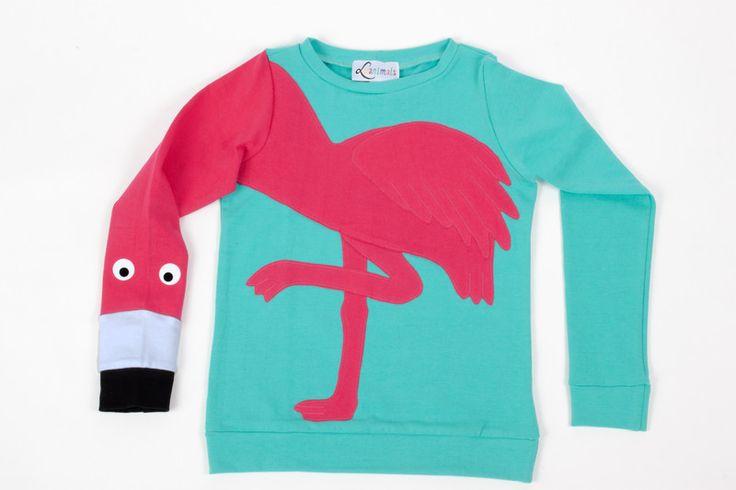 Pullover & Sweatshirts - Pullover Flamingo Luanimals türkis mint - ein Designerstück von Luanimals bei DaWanda