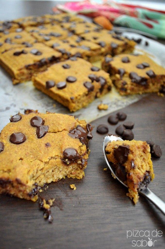 Pastel de calabaza con chocolate (sin gluten y lácteos) | http://www.pizcadesabor.com/2013/10/31/pastel-de-calabaza-con-chocolate-sin-gluten-y-lacteos/