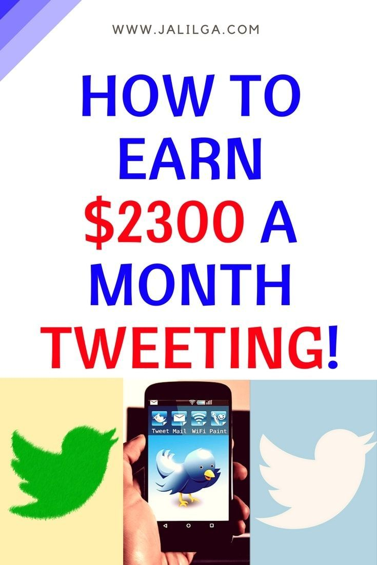 How to easily earn $2300 a month tweeting! | Visit www.jalilga.com for more Work From Home Ideas, Parenting Tips & FREE resources!