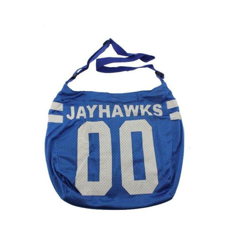 Get Ready Girls 3250 Womens Kansas Jayhawks Blue Tricot Hobo Handbag Medium Bhfo