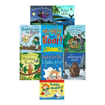 Julia Donaldson Collection of 10 Paperback Books in a Ziplock