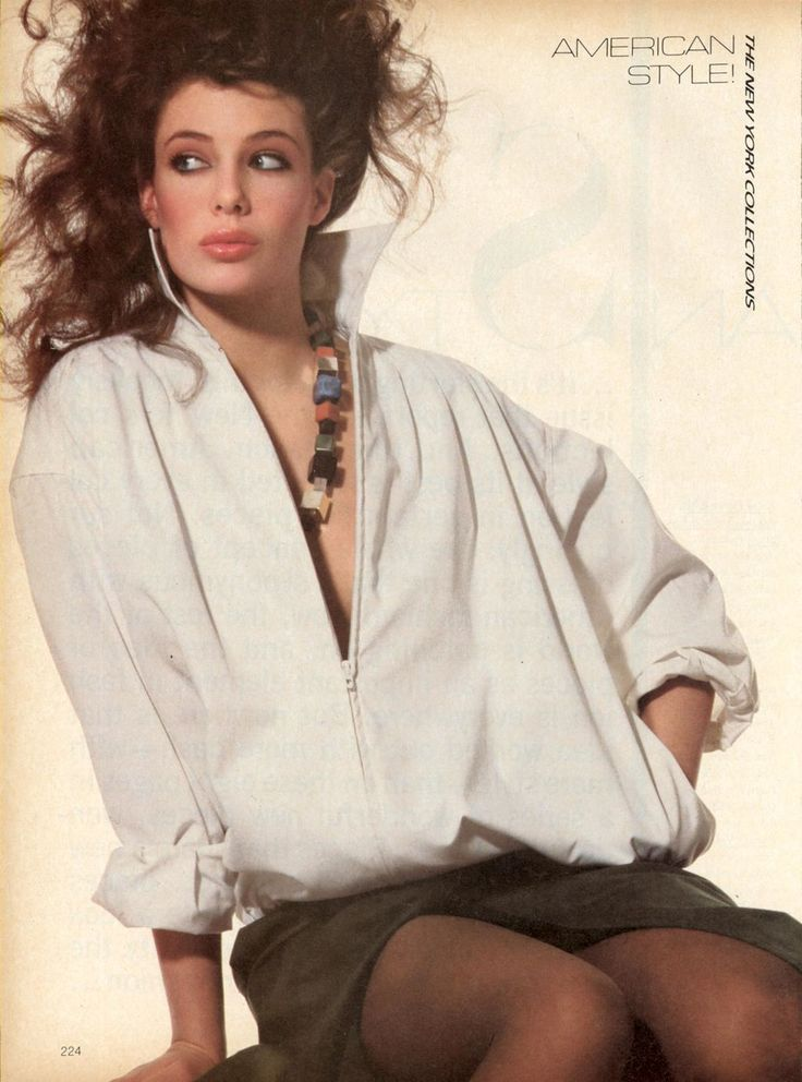 Kelly LeBrock | US Vogue February 1981  American Style!--From the New York Collections  Photo Irving Penn   Hair Harry King   Makeup Alberto Fava