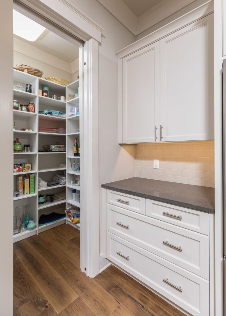 kitchen pantry with adjustable shelves and a wine rack white rh pinterest com