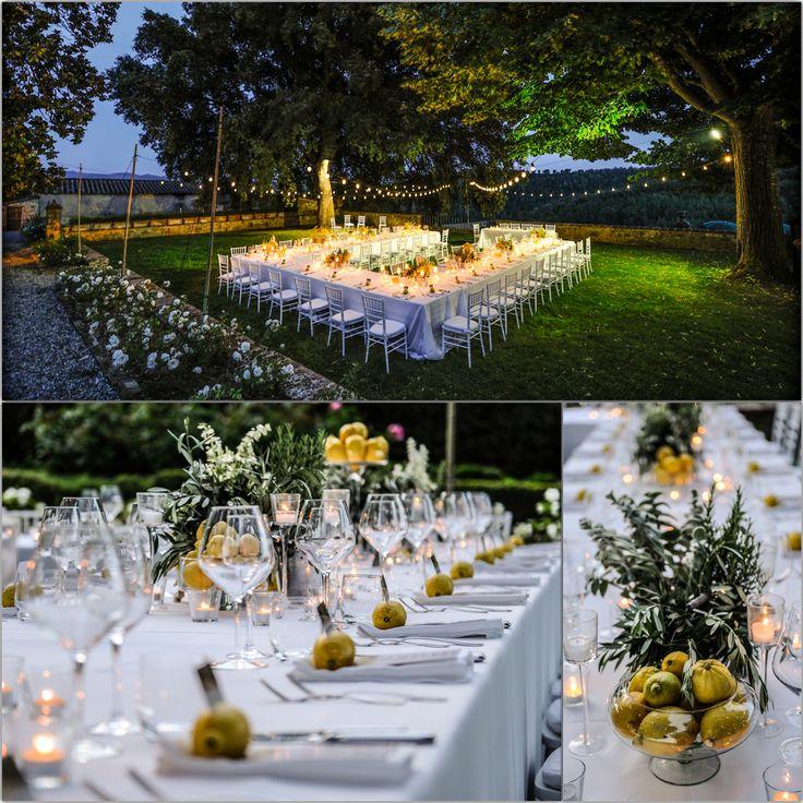 Lovely wedding dinner setting.