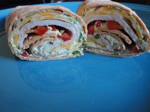 Avacodo cilantro wrap sandwiches