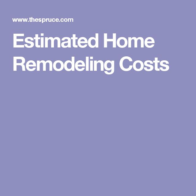Best 25+ Remodeling costs ideas on Pinterest Home renovation - remodeling estimate