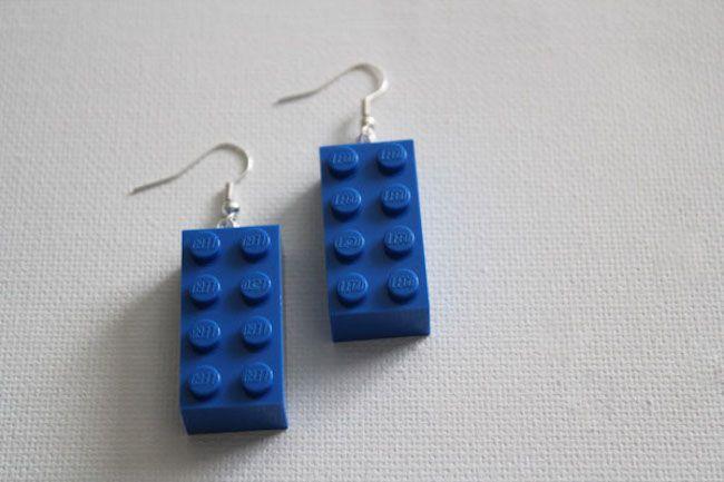 Cómo hacer unos pendientes personalizados de LEGO  #diy #handmade #lego