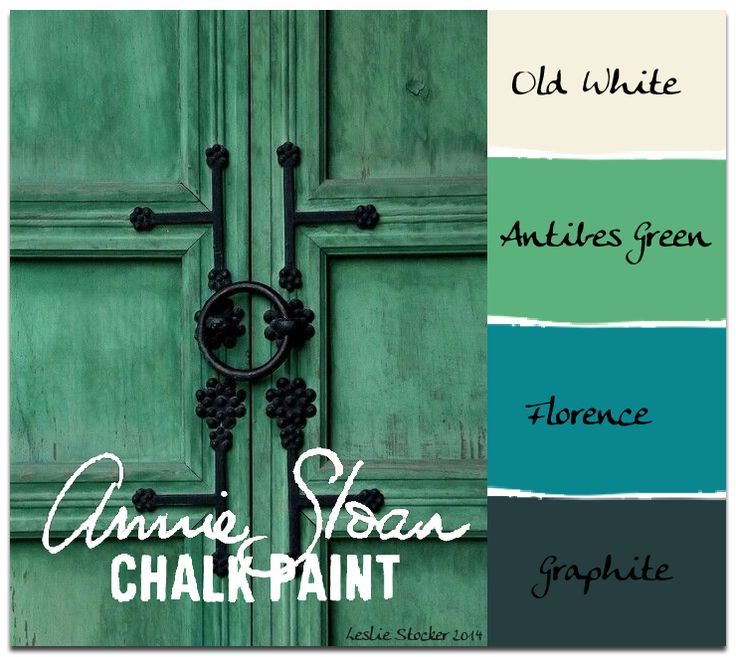 Antibes Green added to Florence results in a deep emerald. Tints can then be made by adding different amounts of Old White to the custom color.