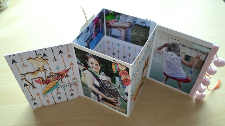 scrapbook minialbum tutorial by Márta Kocur