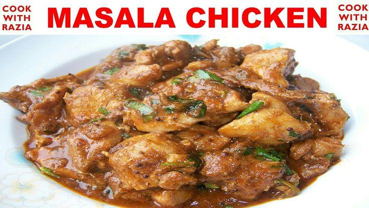 Interesting Masala Chicken Spicy Gravy In Hindi *COOK WITH RAZIA* #cook #kitchen #health #wow