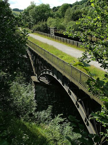 Millers Dale Viaduct, Derbyshire.  The Monsal Trail is a great 8 mile traffic free cycle route