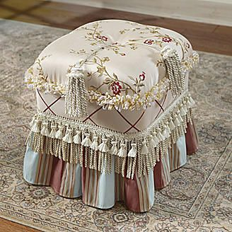 Duchess Ottoman from Seventh Avenue ® wow...beautiful piece