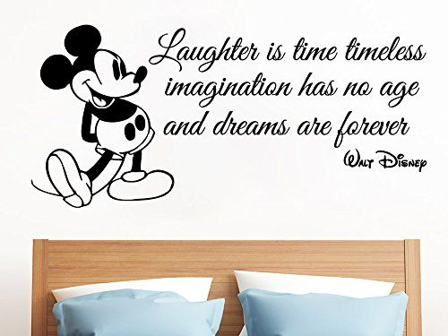 Mickey Mouse Wall Decals Quote Laughter Is Time Decal Sticker Kids Boy Room  Bedroom Nursery Home. 17 Best ideas about Mickey Mouse Wall Decals on Pinterest   Mickey