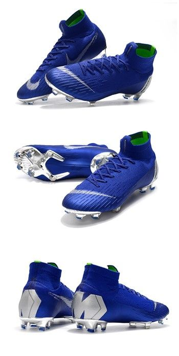aed51a294af8 Nike Mercurial Superfly VI 360 Elite FG Top Cleats - Blue Silver ...