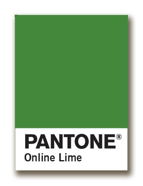 pantone online lime chip