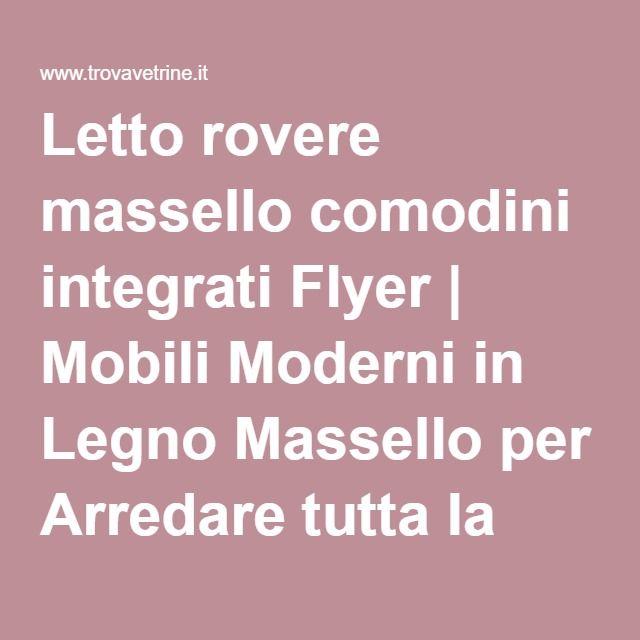 Letto rovere massello comodini integrati Flyer | Mobili Moderni in Legno Massello per Arredare tutta la casa