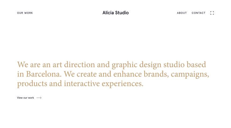 Alicia Studio Website