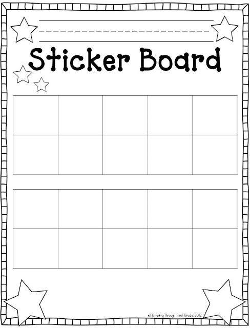 Fluttering Through First Grade: Student Sticker Boards *freebie*