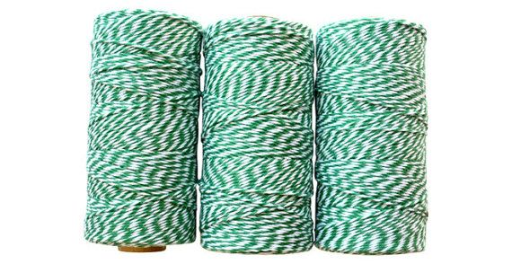 Bakers Twine -Deep Green Twine -Green Party Supplies 4 Ply -Wedding -Baby Shower -Craft Supplies -240 Yard Spool -100% Cotton *Made in USA