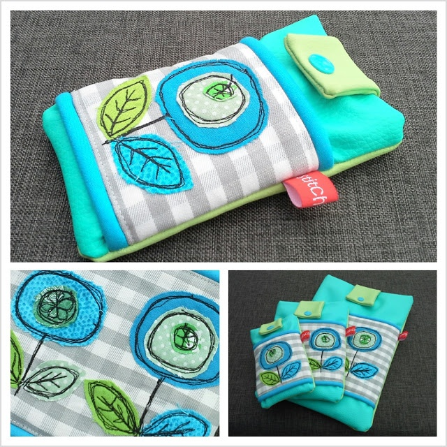 Malen mit der Nähmaschine {free motion applique}  tablet, eReader and smartphone sleeves