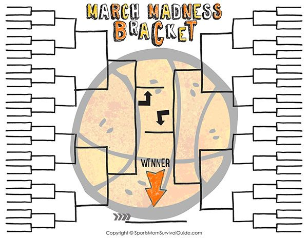 Start a friendly family challenge with this March Madness Printable Bracket for Kids.