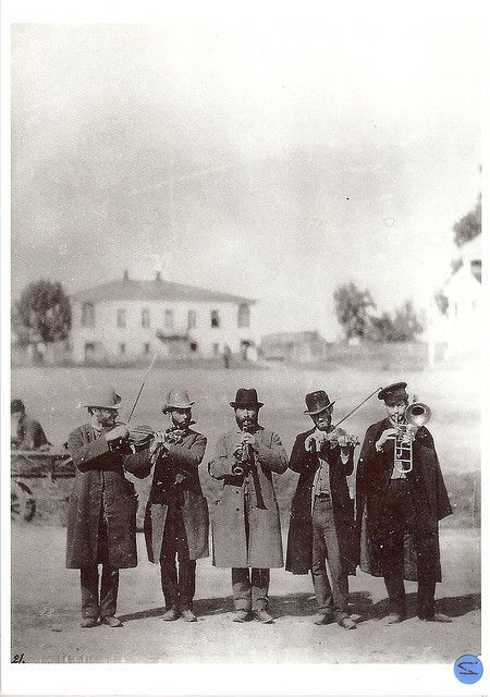 Ukrainian Jewish klezmer band. Published by the State Ethnographical Museum, St. Petersburg, Russia.