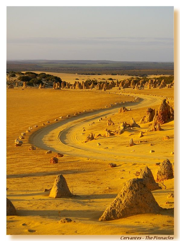 Desert of the Pinnacles - Cervantes, Western Australia.  Go to www.YourTravelVideos.com or just click on photo for home videos and much more on sites like this.
