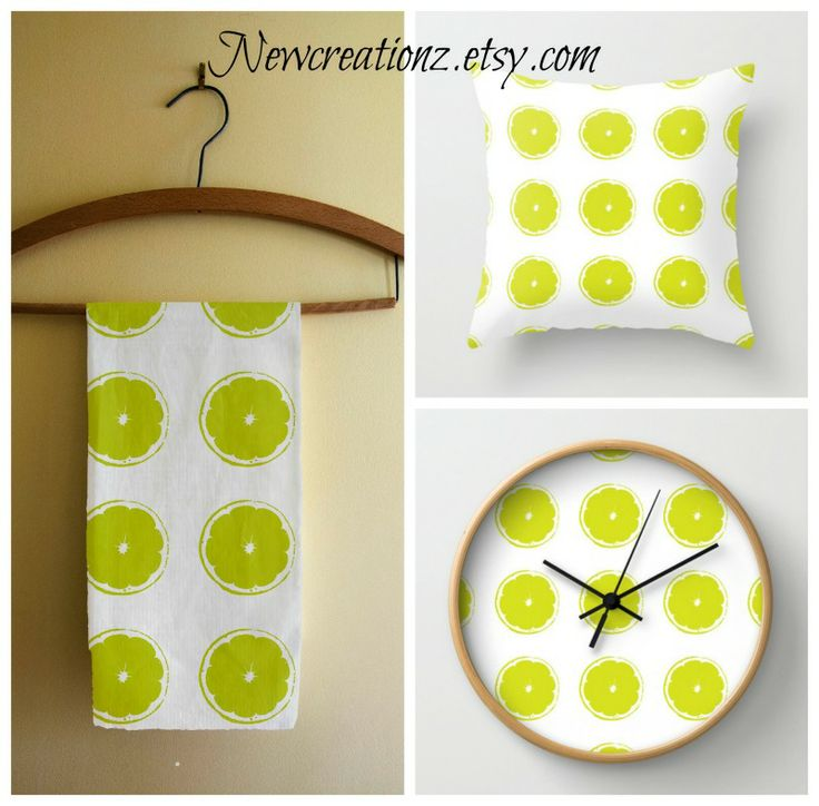 Freshen up your home decor this spring with Newcreationz original designs. #home decor #clocks #pillows #tea towels