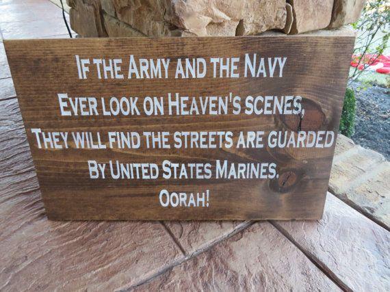 Handpainted wood Marine Corps Hymn sign on Etsy, $60.00