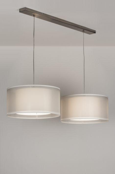 Hanglamp 30652: Modern, Eigentijds Klassiek, Landelijk Rustiek, Wit