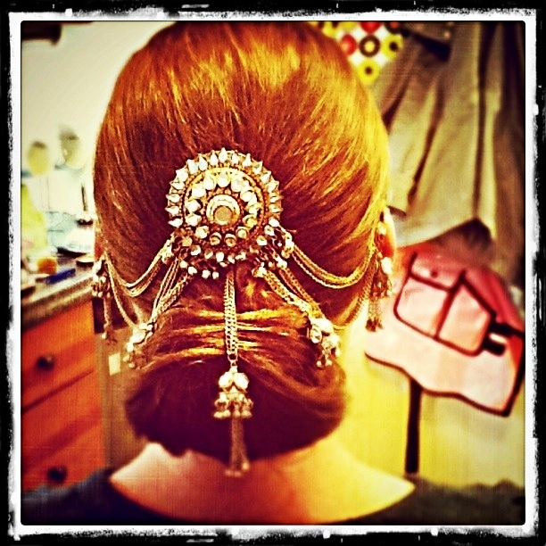 Updo I did for my friends Indian wedding.