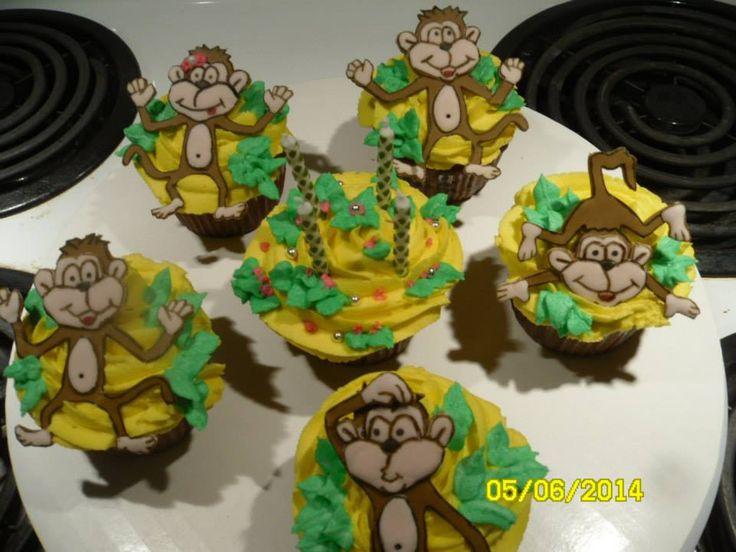 cupcake de singe