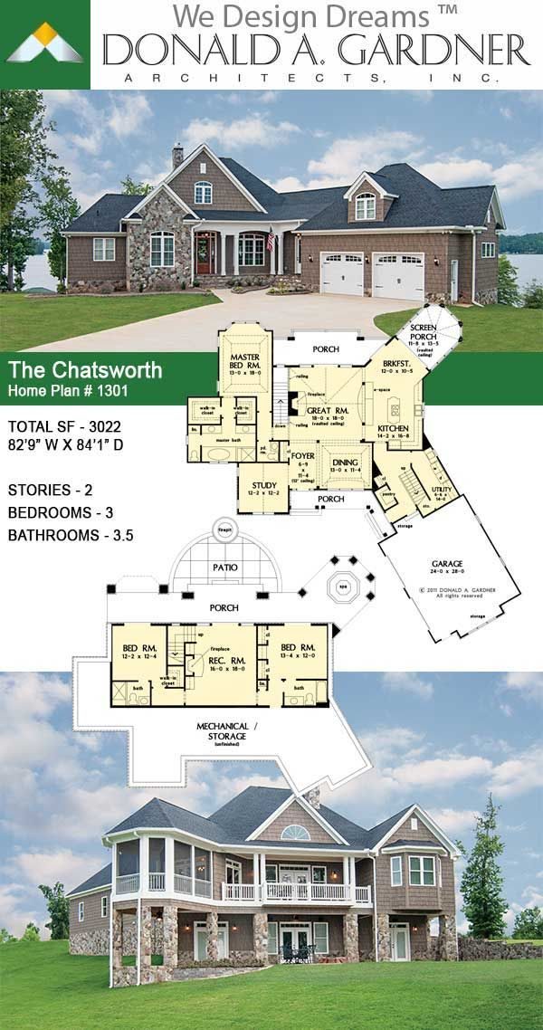 The Chatsworth House Plan 1301 D Craftsman House Plans Dream House Plans New House Plans