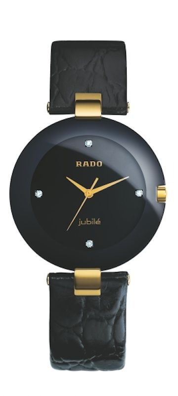 Catálogo de relojes Rado de cerámica: Reloj Rado Coupole, con correa de piel (115 3828 4 071)