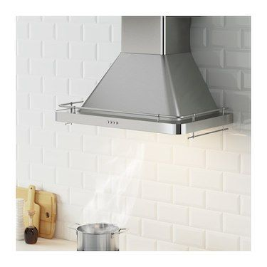 IKEA FÖLJANDE wall mounted extractor hood Control panel placed at front for easy access and use.