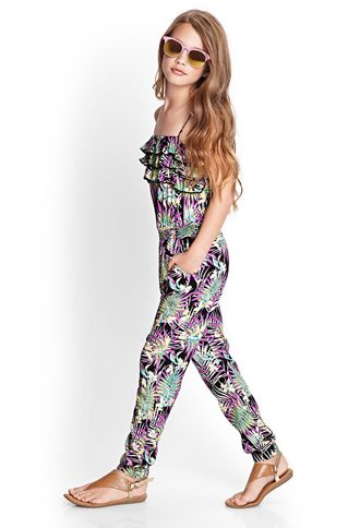 Tropical Print Jumpsuit (Kids) | FOREVER21 - 2000068608 http://www.forever21.com/Product/Product.aspx?BR=f21&Category=sale&ProductID=2000068608&VariantID= Yass <3 <3