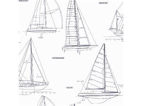 Saılboats Vinil Jb81001rulo Çocuk 53cmx10m Mavi
