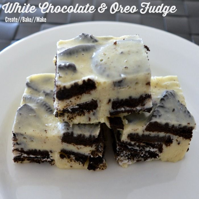 White Chocolate and Oreo Thermomix Fudge