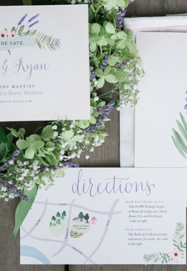 lavender wedding map http://www.weddingchicks.com/2013/10/14/tea-party-wedding-ideas/