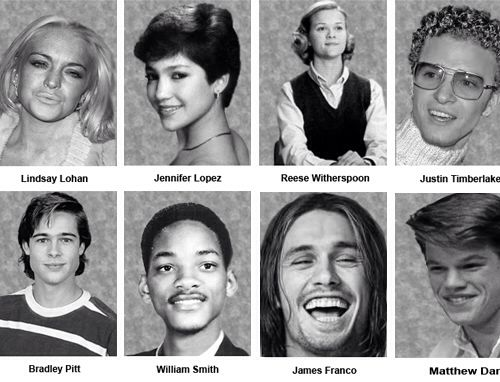actors when they were in high school celebrities