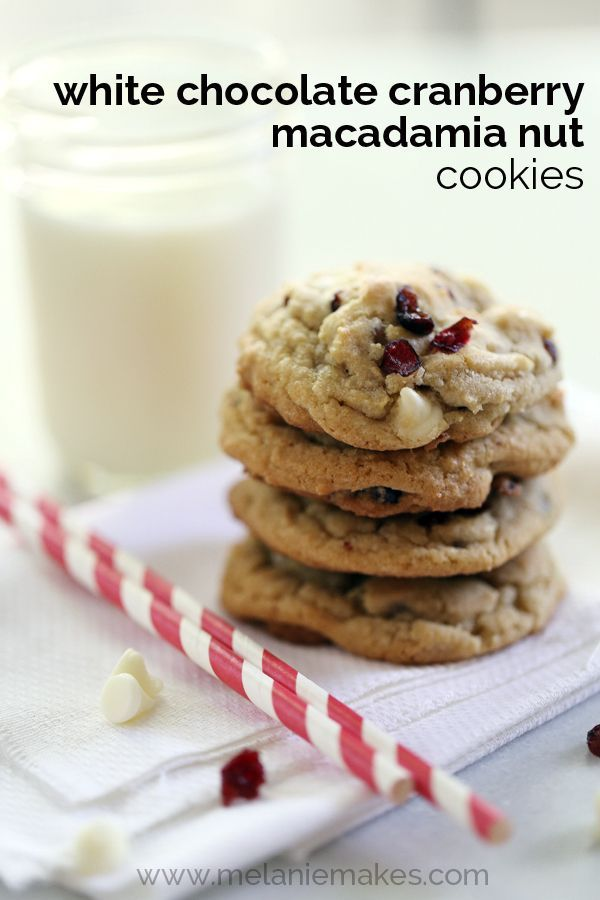 flavors of fall, these White Chocolate Cranberry Macadamia Nut Cookies ...