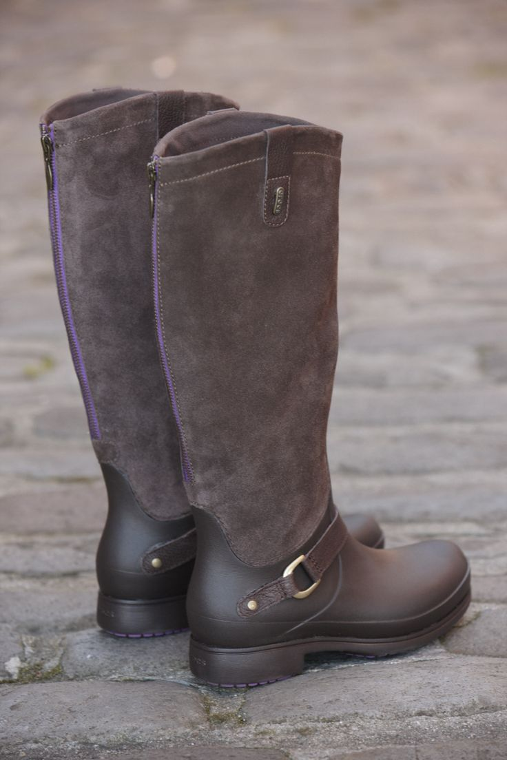 Women's Equestrian Suede Tall Boot by Crocs. Coming to Sole Tread this Winter!