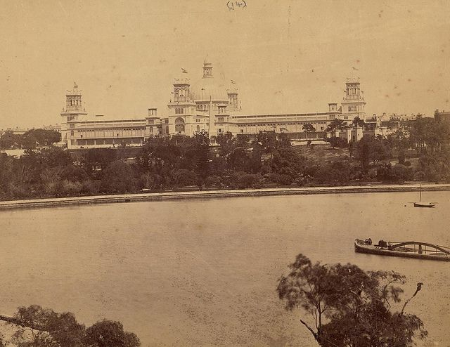 The International Exhibition, Sydney, from Lady Macquarie's Chair, 1879-1880 / photographed by C. Bayliss, 419 George Street [Sydney]   Flic...