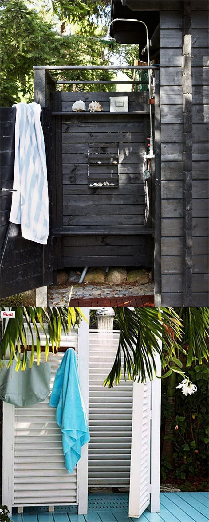 32 inspiring DIY outdoor showers: lots of ideas on how to build enclosures with simple materials, best outdoor shower fixtures, creative designs and more!