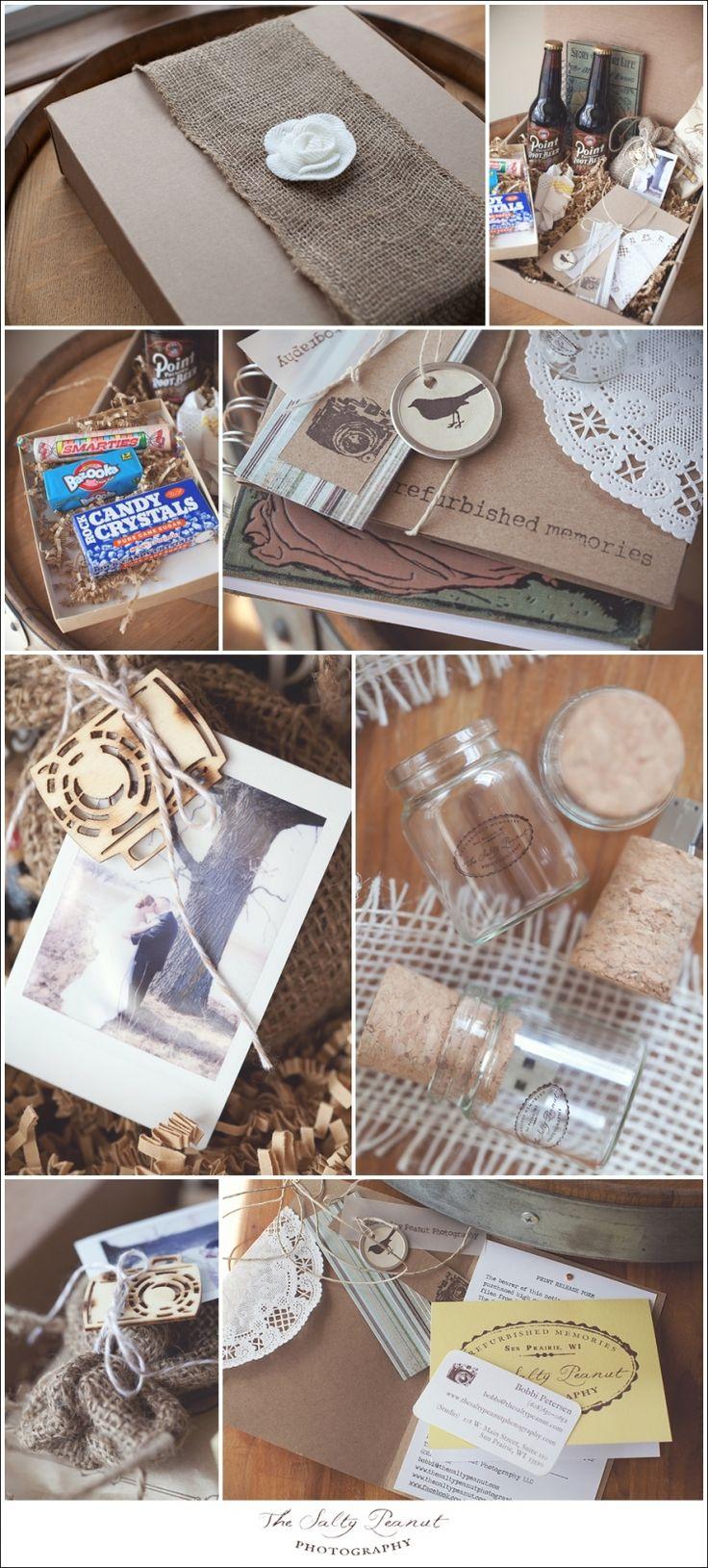 vintage inspired wedding photography packaging www.facebook.com/thesaltypeanut